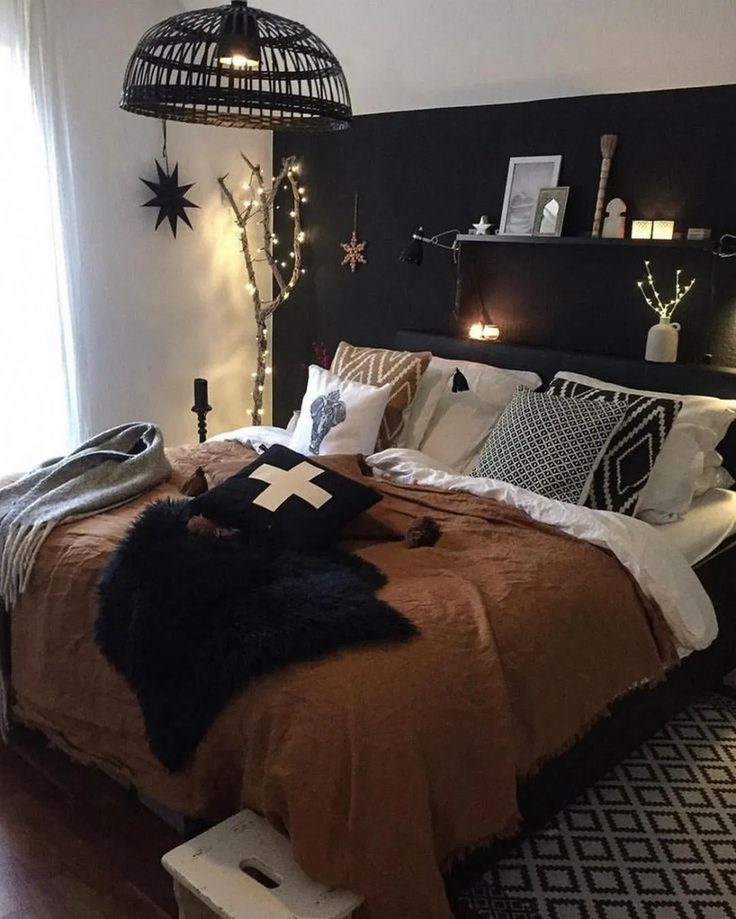 22 dark cozy bedroom 12 (com imagens)   Decoração de casa ...