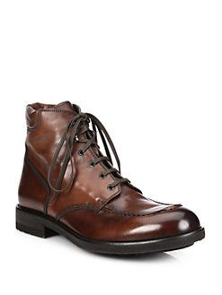 To Boot New York - Paul Leather Lace-Up Boots