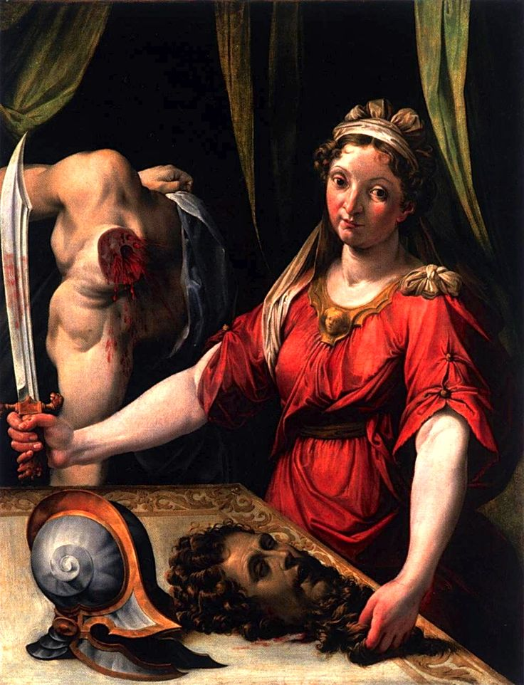 """Judith with the Head of Holofernes""  by Lorenzo Sabatini (1530 ~ 1576} tumblr_ml2ckwbzmU1qbhp9xo1_1280.jpg (1000×1308)"