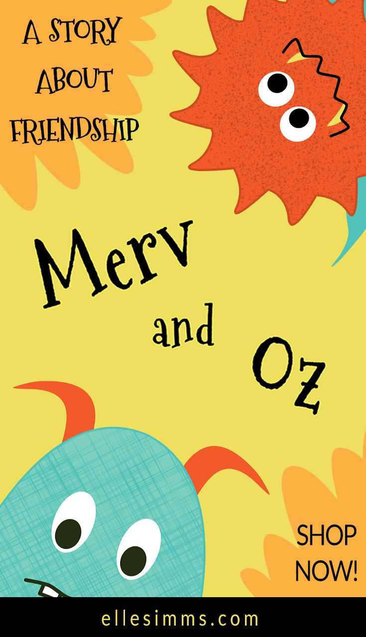 The tale of a lonely monster who makes a friend. For children 0-5. Get Merv and Oz on Amazon for only $9.13 Also available as e-book on Kindle.