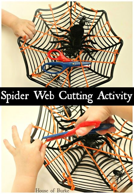 Spider Web Cutting Activity - House of Burke