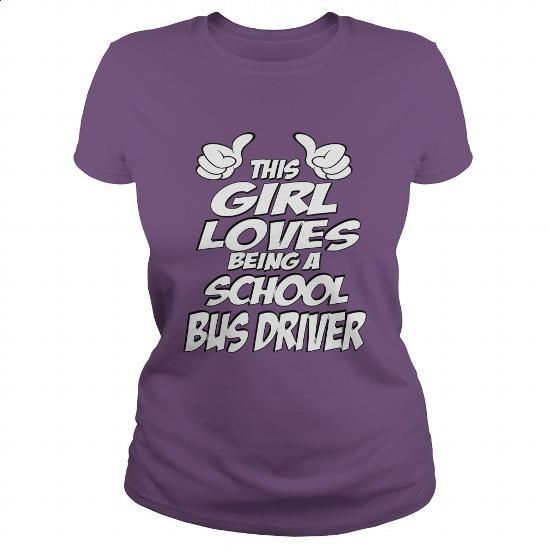 Being A School Bus Driver Shirt #Tshirt #style. ORDER HERE => https://www.sunfrog.com/Jobs/Being-A-School-Bus-Driver-Shirt-Purple-Ladies.html?60505