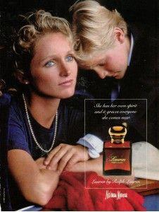 Ralph Lauren LAUREN perfume ad 1987.  Oh, how I miss this perfume.