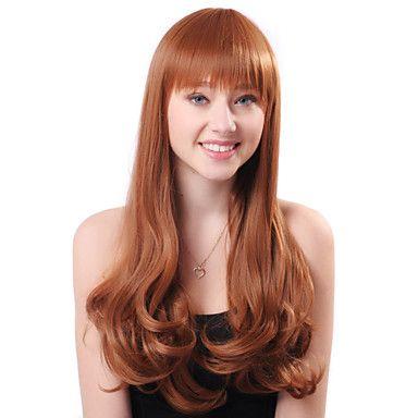 Capless Hot Sale longo cabelo louro encaracolado sintéticos de alta qualidade japonês Kanekalon perucas – BRL R$ 96,16