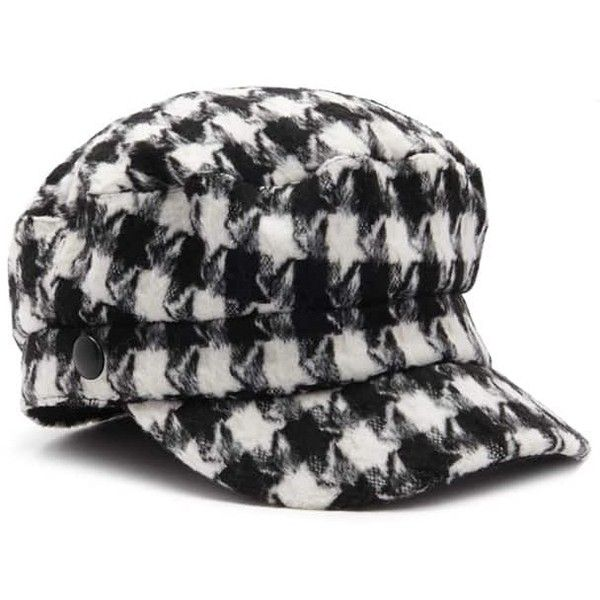 54acccd09b7 Forever21 Houndstooth Cabby Hat ( 15) ❤ liked on Polyvore featuring  accessories