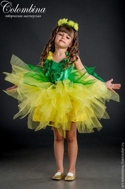 Купить или заказать костюм одуванчика в интернет-магазине на Ярмарке Мастеров. комплектация: платье, венок 134-146+ 300 рублей…
