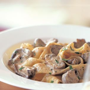 Creamy Mushroom Stroganoff Ingredients: 6 Tbs. (3/4 stick) unsalted butter 1 large