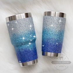 Ombre Glitter Dipped YETI's