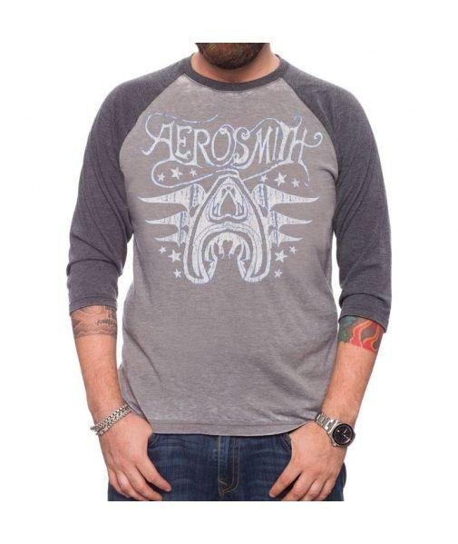Aerosmith Stars Raglan. 50% Ringspun Cotton, 50% Polyester
