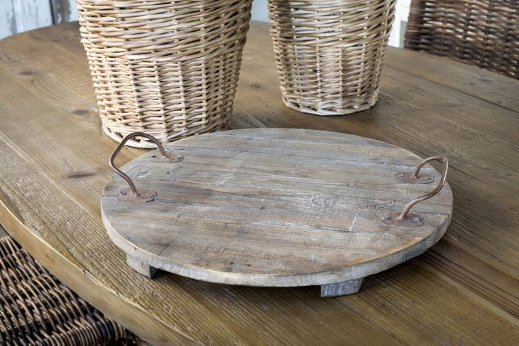 "This wooden serving tray is not only fantastic in its appearance, but also offers a ton of decorating or serving options as well!    It measures 17"" X 17"" X 3""."