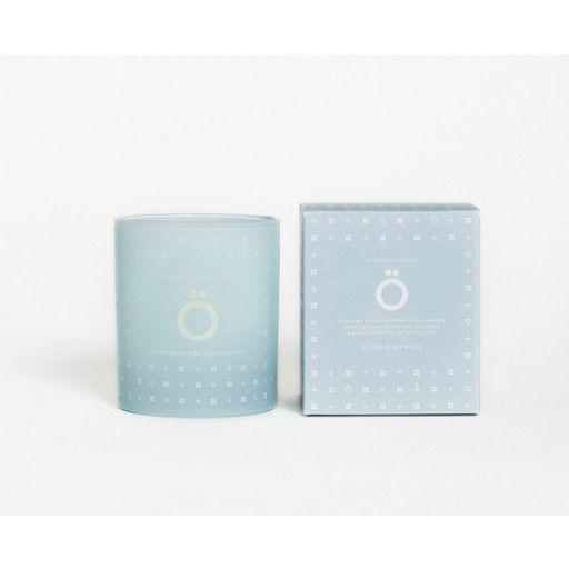 """Ö"" - scented candle by Skandinavisk #nordicdesigncollective #skandinavisk #ö #island #candle #sveneted #blue #skärgården #stockholm #sweden #nordic #scandinavia #cosy"