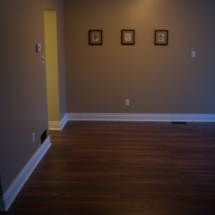 Like the colour combo of the dark floor, white skirting and olive green walls. Bit of a dark piccie but love the colours.