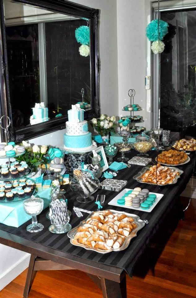 Little Big Company | The Blog: Tiffany Inspired 50th Birthday Party by Sweet Little Party Company