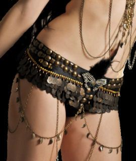 Tribal Fusion Belly Dance Maskerade Hip Belt by bellydanceon
