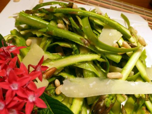 Asparagus Ribbon Salad with Lemony Vinaigrette...Kids that won't go ...
