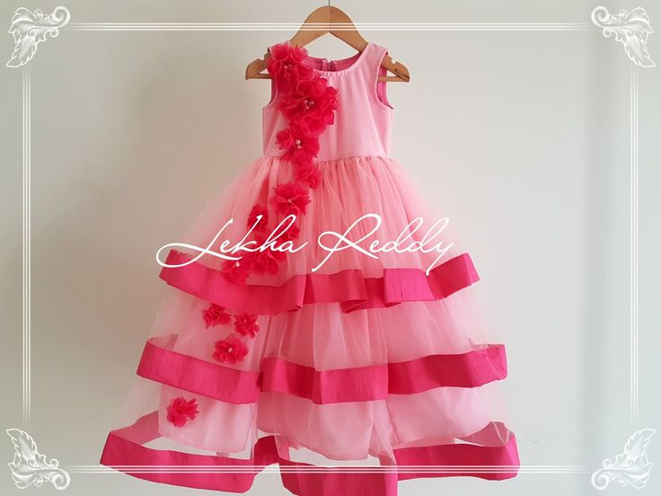 A pretty pink dress for your little princess ORDER NOW ITEM CODE: LR-KC 19For quotes please email lekhareddydesigns@gmail.com or Whatsapp/ call on  91 8790797505  28 March 2017