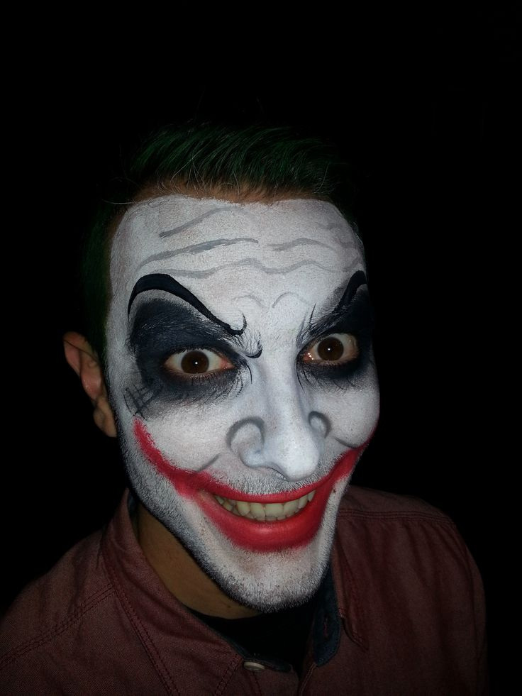 best 25 joker face paint ideas only on pinterest diy halloween joker halloween face paint - Easy Scary Halloween Face Painting Ideas