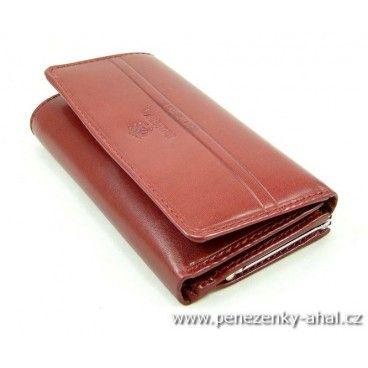 Dámská peněženka červeno-hnědá