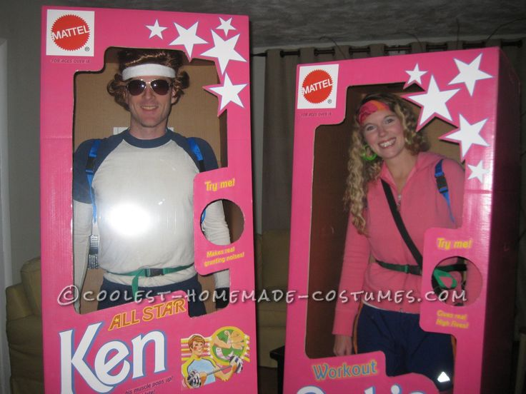 Coolest DIY Barbie and Ken Couple Costume... Coolest Homemade Costumes