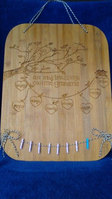 Mother's day 2016- engraved and stained cutting board