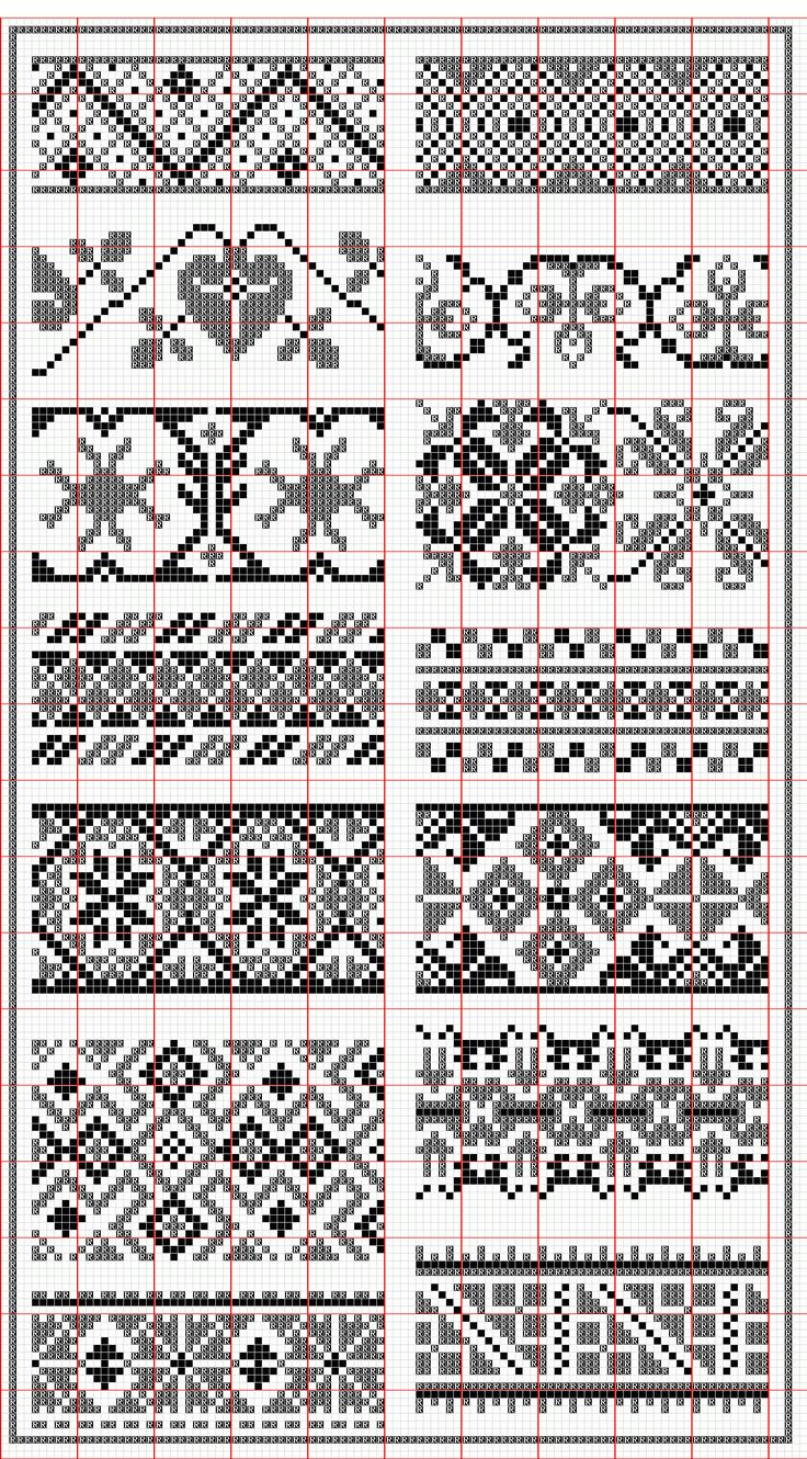 Hungarian colorwork stitch patterns