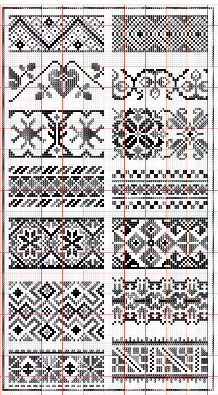 Hungarian.108-121-2.png (1387×2507) : peut être utilisé pour créer des bordures au point de croix