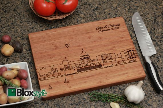 Madison Wisconsin Skyline Personalized by PegasusParchments