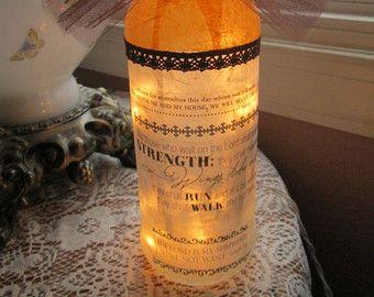 Lighted Bottles lighted bottle wine bottle lights wine