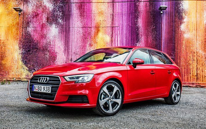 Télécharger fonds d'écran Audi A3 Sportback, en 2017, voitures, wagons, voitures allemandes, Audi