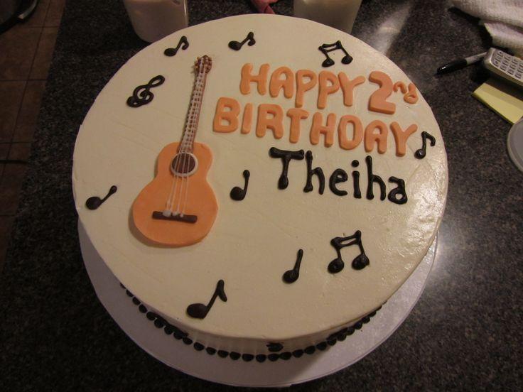 The 25 best acoustic guitar cake ideas on pinterest for Acoustic guitar decoration ideas