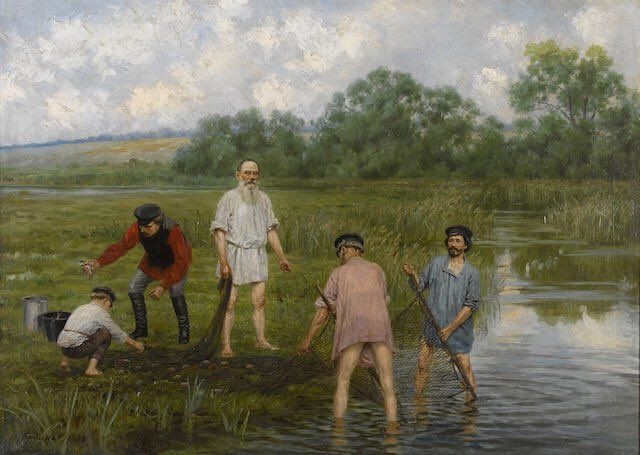 """Anya on Twitter: """"#ArtAttack Ilya Repin, Tolstoy and Bunin play peasant @britishlibrary #AdultEd https://t.co/RrZGTQqySd"""""""