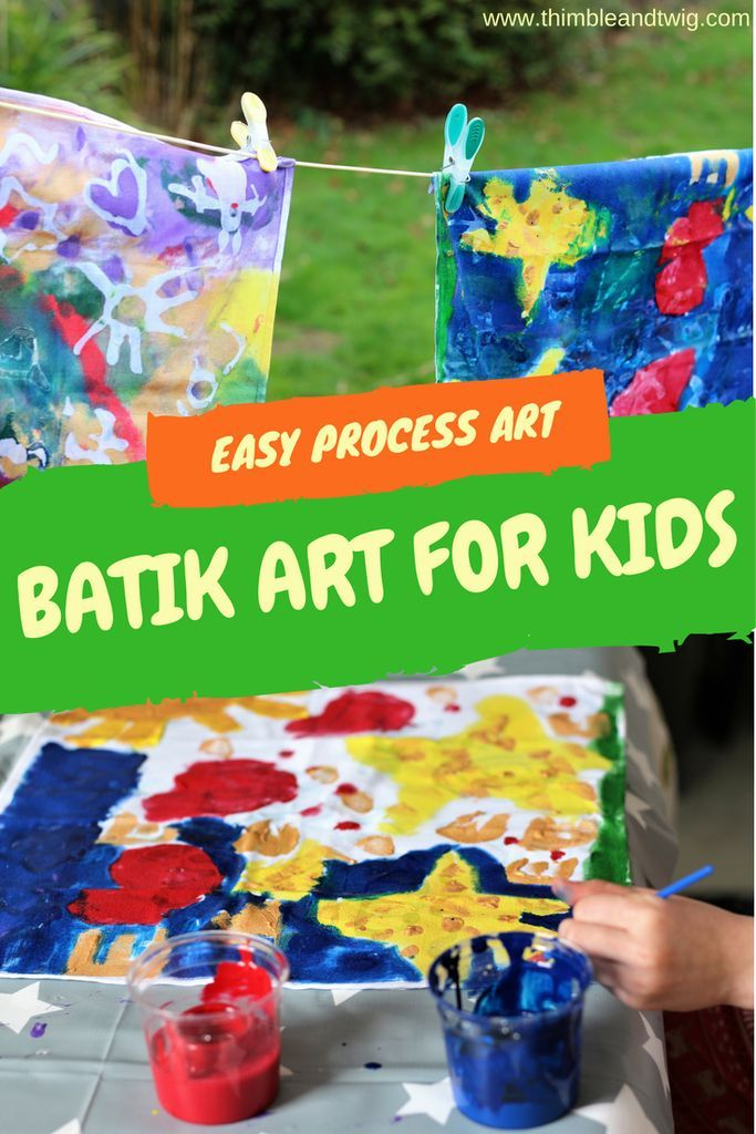 Fun and Easy Fabric Batik Art Craft for Kids. Process Art for Children. Learn how to make easy framed pictures for children's rooms. Quick and easy craft idea for children.
