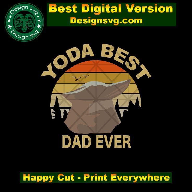Yoda best dad ever,baby yoda svg, baby yoda gift,retro