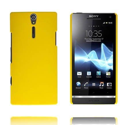 Hard Shell (Gul) Sony Xperia S Deksel