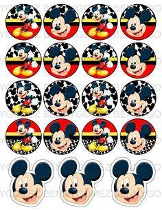 Kit imprimible gratis de Mickey - Imagui                              …