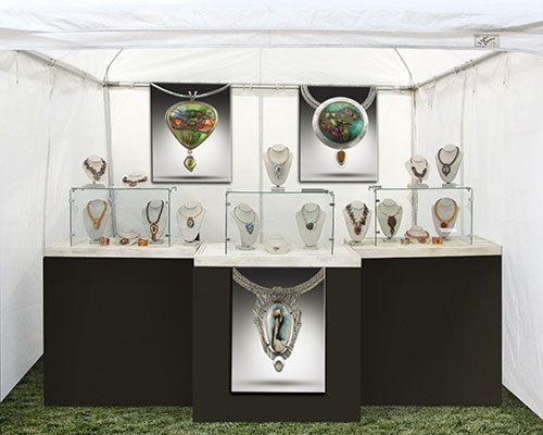 1000 images about art show booths on pinterest crafts for Jewelry display trade show