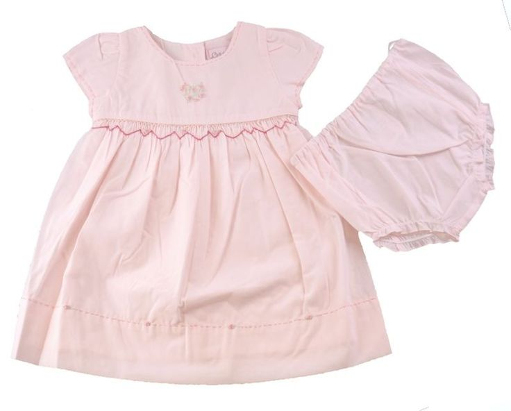 Beautiful baby girls embroidered dress and nappy covering pants by Chloe Louise. A stunning baby girls traditional,Romany style dress in a classic style. Nappy covering pants to match in pale pink.Elasticated to the waist and legs. | eBay!