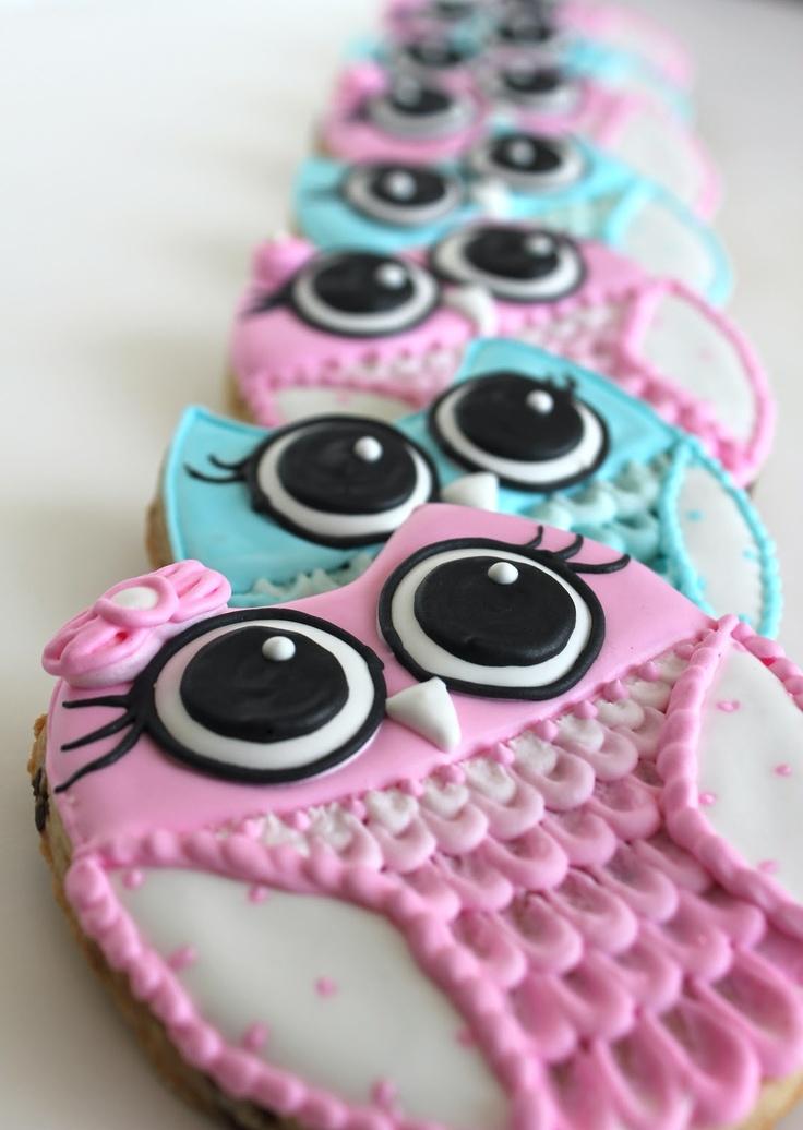Sugar Bea's Blog: Gender Reveal Party {Owl Cookies}