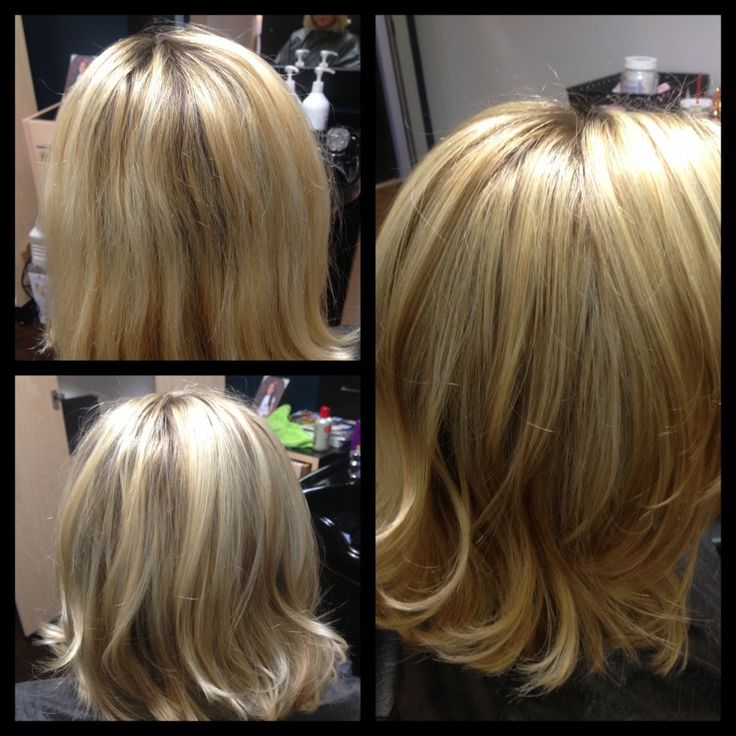 Before Amp After Brassy Over Lightened Blonde To Dimensional Balayage Highlights My Work