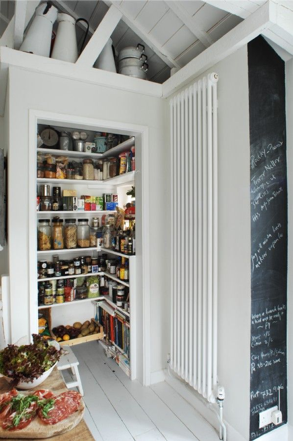 Small, functional pantry. The Oyster Catcher - desire to inspire - desiretoinspire.net