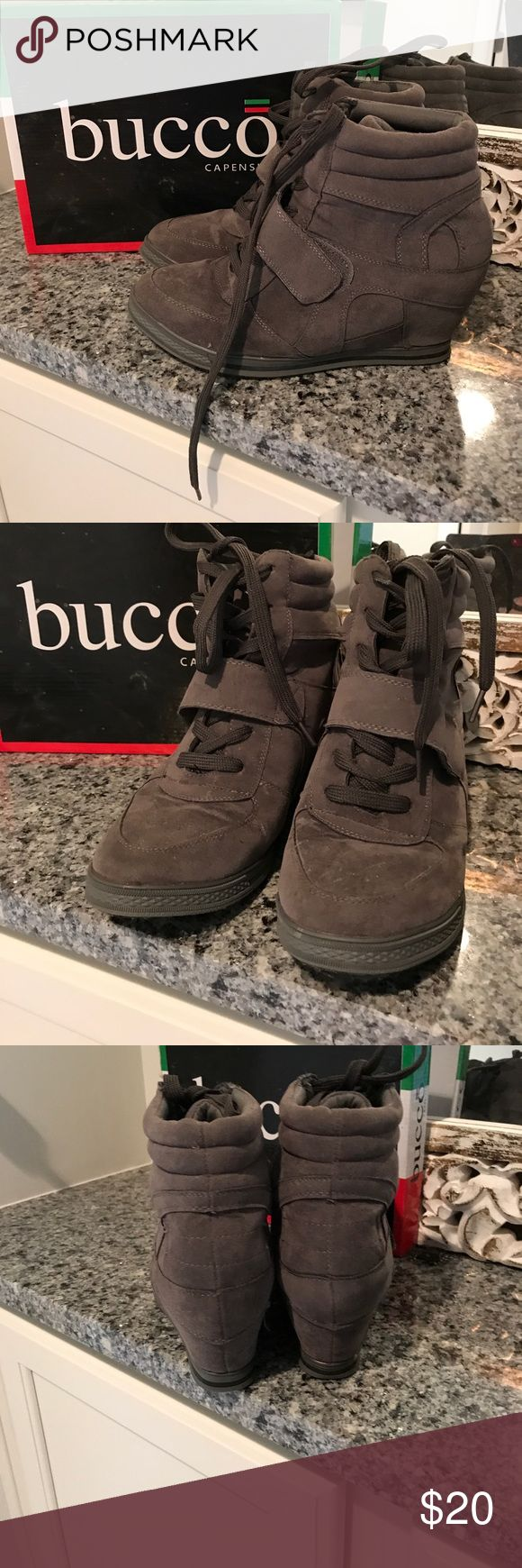 Wedge sneakers. Great condition. Bucco wedge sneakers worn once. I purchased these in Italy. Bacco Bucci Shoes Sneakers