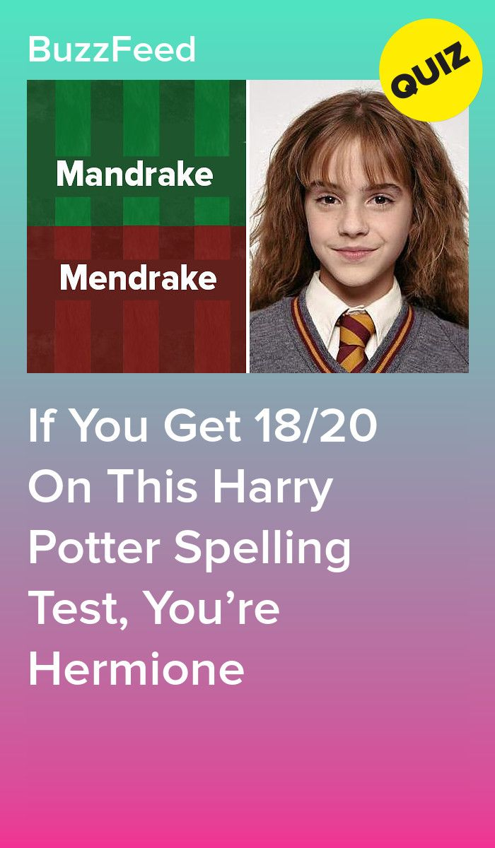 If You Get 18/20 On This Harry Potter Spelling Test, You're