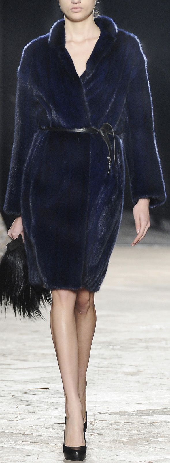 CECI Blue mink coat