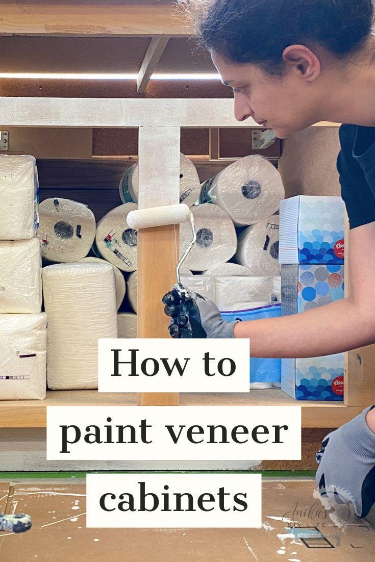 How To Paint Veneer Cabinets Painting Veneer Veneers Painting Cabinets