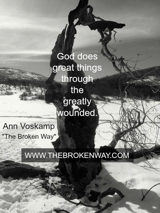Leaning into these words of hope from @Annvoskamp today.  #TheBrokenWay