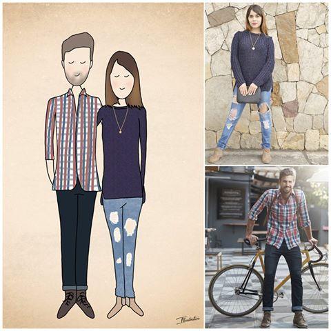 Vorher - nachher. Liebevolle Portraits der www.illustraten.de