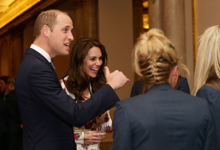 LONDON, ENGLAND - OCTOBER 18: Prince William, Duke of Cambridge and Catherine, Duchess of Cambridge meet athletes at a reception for Team GB's 2016 Olympic and Paralympic teams hosted by Queen Elizabeth II at Buckingham Palace October 18, 2016 in London, England. (Photo by Yui Mok - WPA Pool /Getty Images) via @AOL_Lifestyle Read more: https://www.aol.com/article/entertainment/2017/06/19/prince-william-grenfell-tower-visit/22489423/?a_dgi=aolshare_pinterest#fullscreen