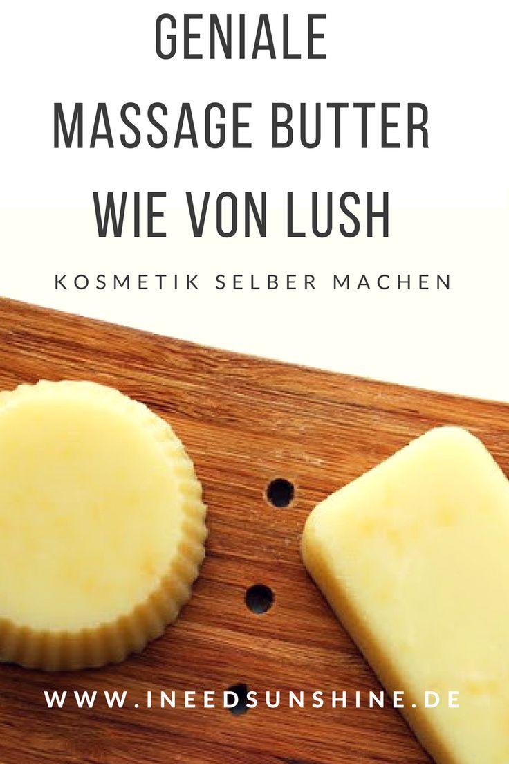 Kosmetik selber machen: Massagebars wie von Lush ganz einfach selbst herstellen mit diesem einfachen DIY Kosmetik Rezept für ein geniales Kosmetik DIY auf www.ineedsunshine.de