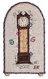 Happy New Year cross stitch clock