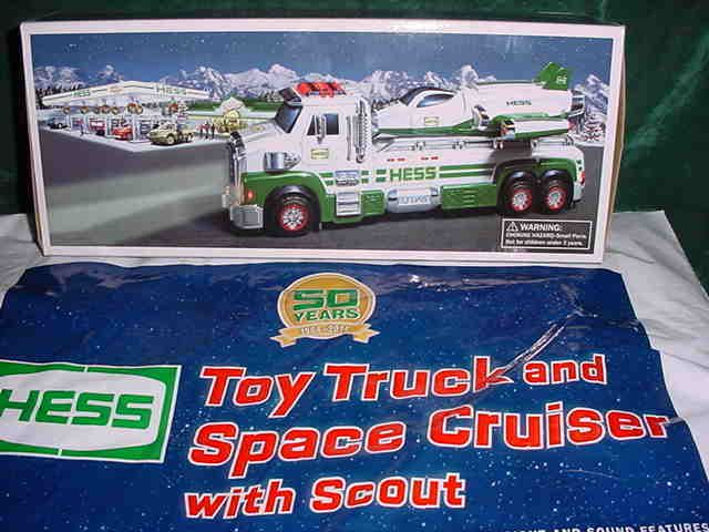 2014 CHRISTMAS XMAS HESS 50TH ANNIVERSARY TOY TRUCK AND SPACE CRUISER